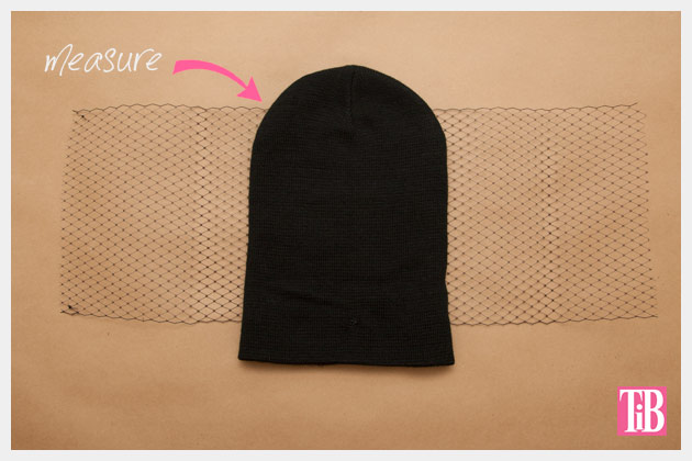 DIY Veiled Beanie Measuring