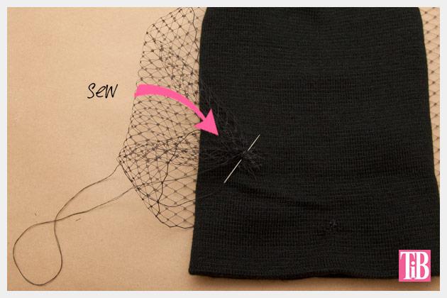 DIY Veiled Beanie Sewing