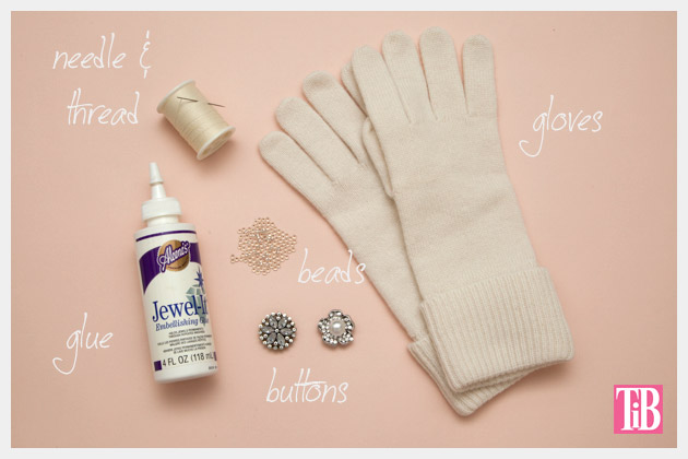 DIY Gloves with Rings Supplies