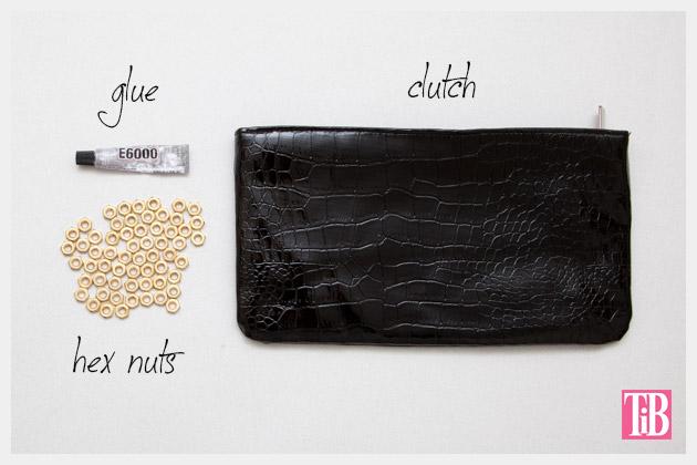 Hex Nut Clutch DIY Supplies