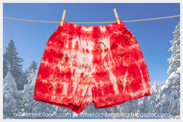 DIY Holiday Boxers Ho Ho Ho