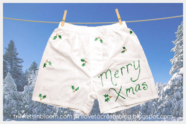DIY Holiday Boxers Merry Xmas
