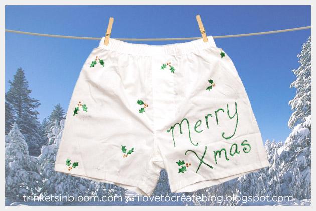 DIY Holiday Boxers Merry Xmas