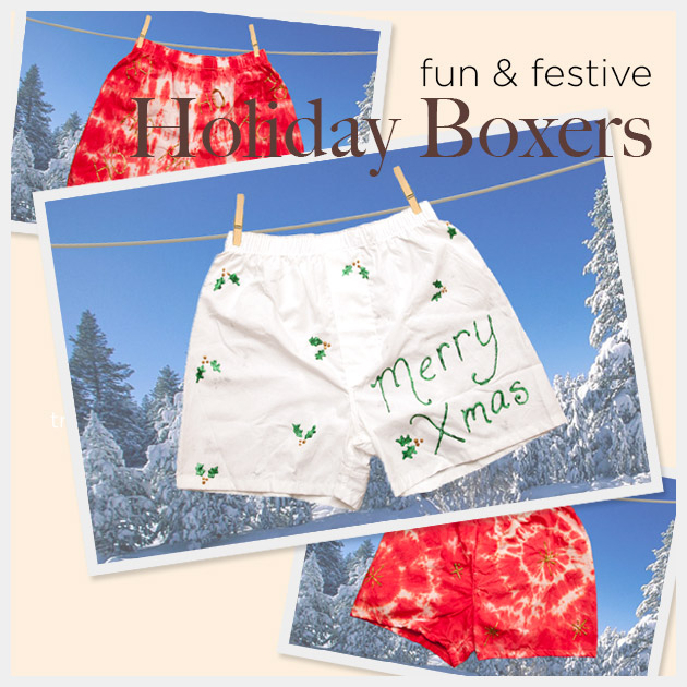 DIY Holiday Boxers