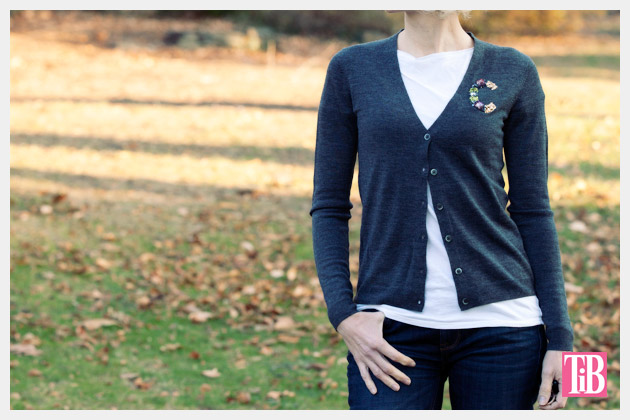DIY Monogram Sweater Photo by trinketsinbloom.com