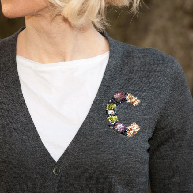 DIY Monogrammed Sweater