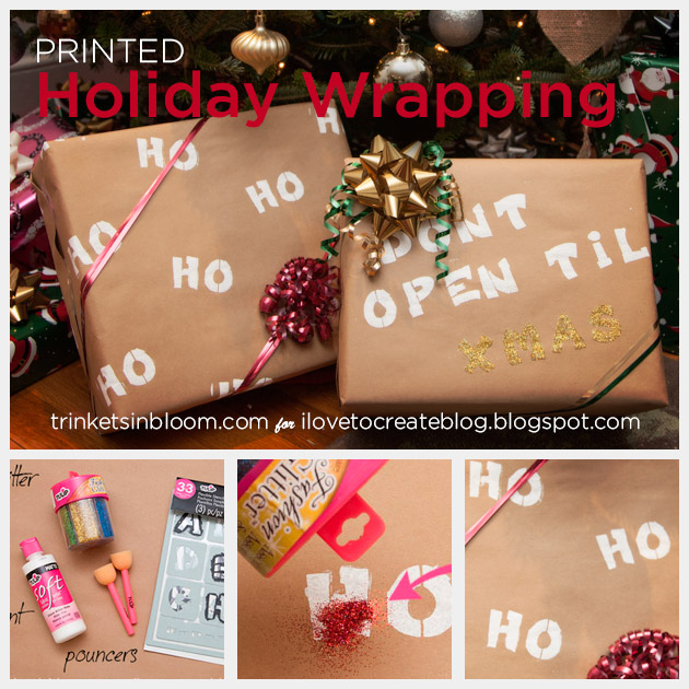 DIY Printed Wrapping Paper by Trinkets in Bloom