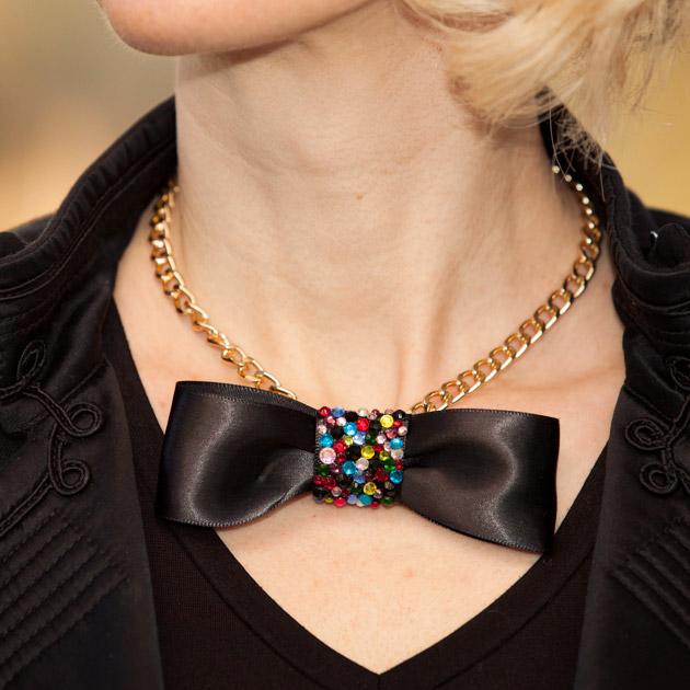 DIY Rhinestone Bow Necklace