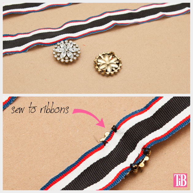 DIY Recycled Ribbon Bracelet Sewing Brooches