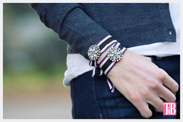 DIY Recycled Ribbon Bracelet Photo