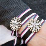 Recycled Ribbon Bracelet DIY