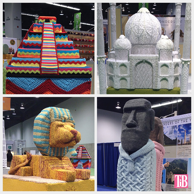 4 of the 7 Wonders of the World in Yarn
