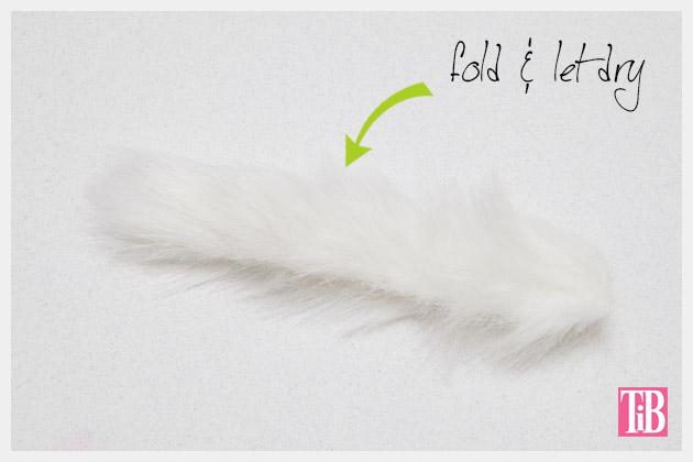 Faux Fur Fimo Clay Ring DIY Folding the fur