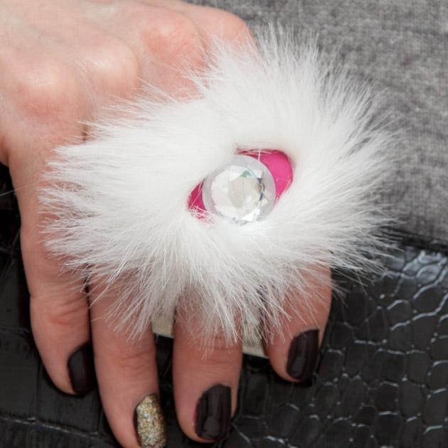 Faux Fur Fimo Clay Ring DIY