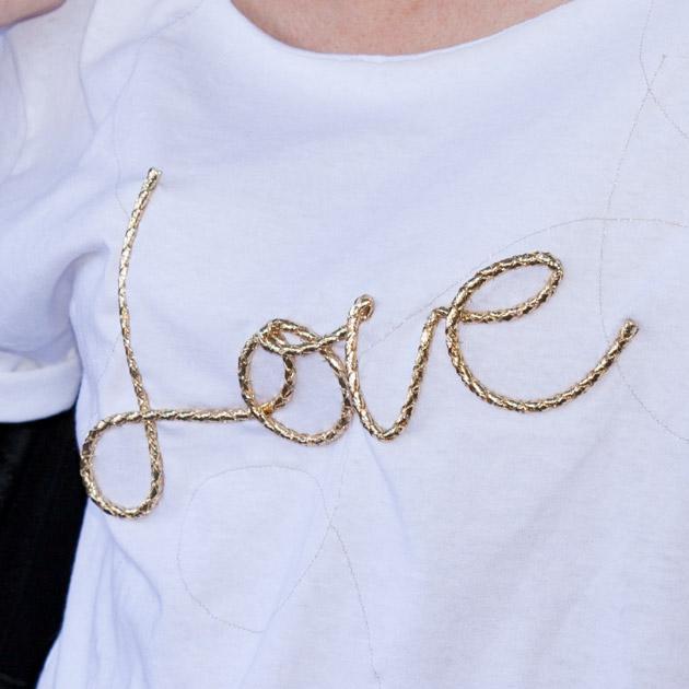 DIY Love T-Shirt Close Up