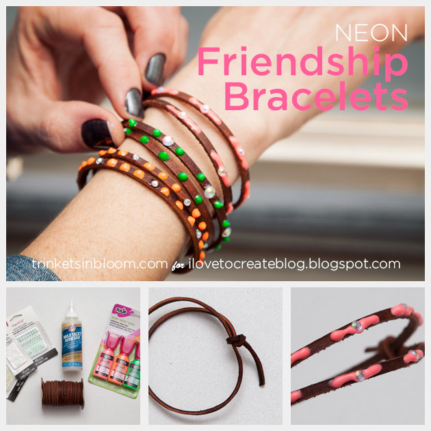 DIY Neon Friendship Bracelets by Trinkets in Bloom