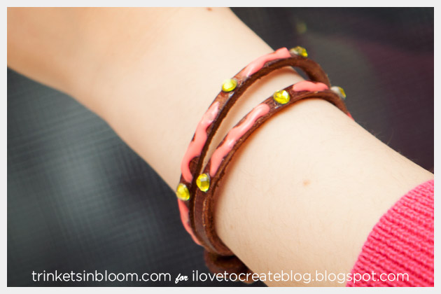 DIY Neon Friendship Bracelets with Yellow Crystals