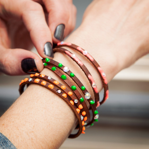 DIY Neon Friendship Bracelets
