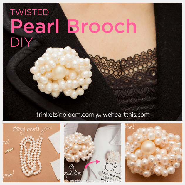 Twisted Pearl Brooch DIY Feature by Trinkets in Bloom