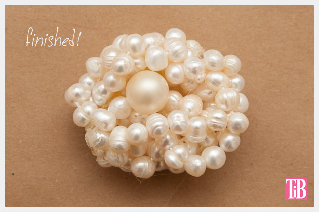 Twisted Pearl Brooch DIY Finished Photo
