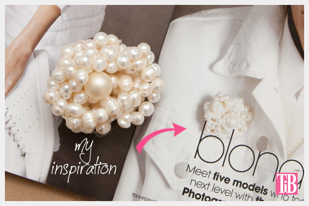 Twisted Pearl Brooch DIY Inspiration