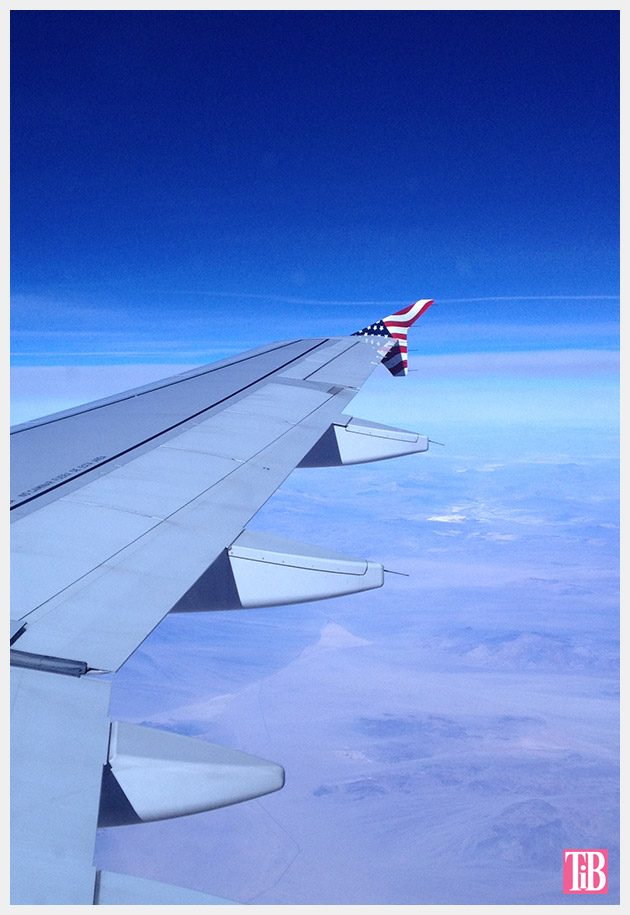 Wing of the Virgin America plane
