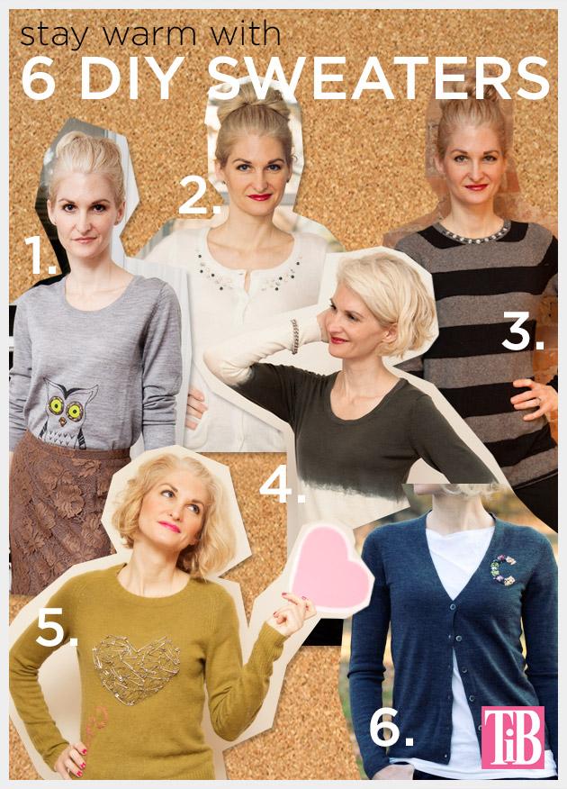 6 DIY Sweaters by Trinkets in Bloom