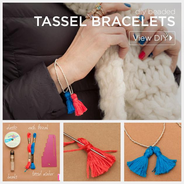 Beaded Tassel Bracelets by Trinkets in Bloom