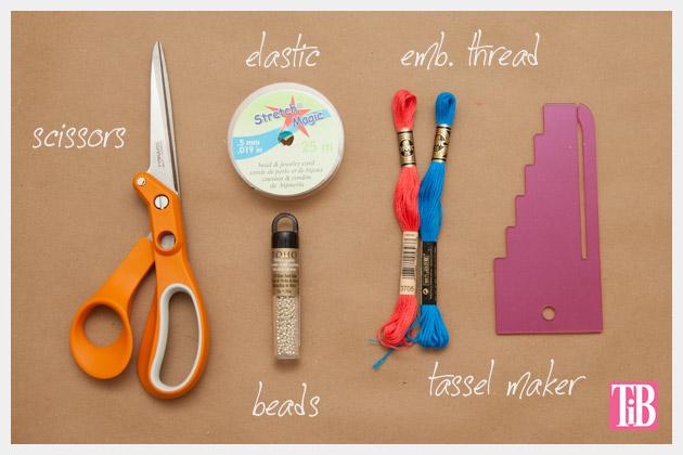 Beaded Tassel Bracelets Supplies