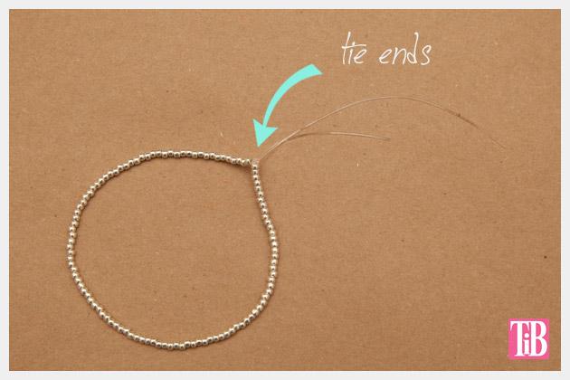 Beaded Tassel Bracelets Tying Ends