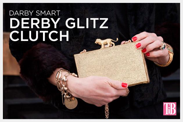 Derby Glitz Clutch by Trinkets in Bloom for Darby Smart