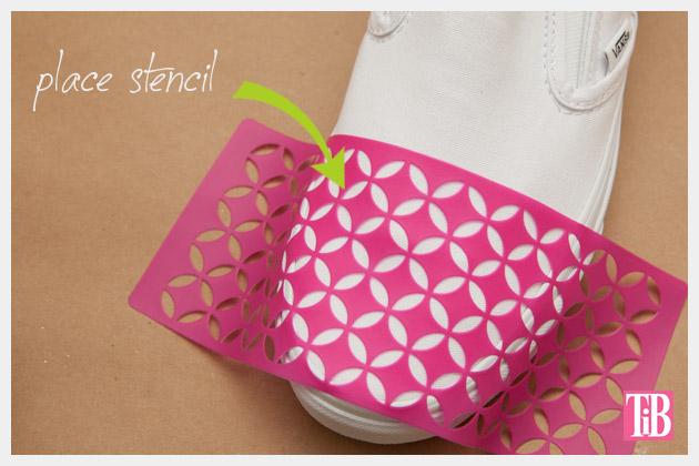Stenciled DIY Sneakers Stencil