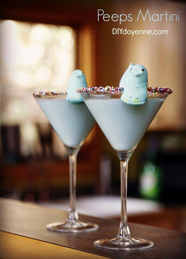 Peeps Martini Cocktail
