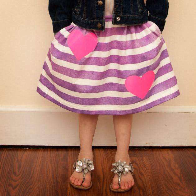 Girls Skirt DIY from a T-shirt