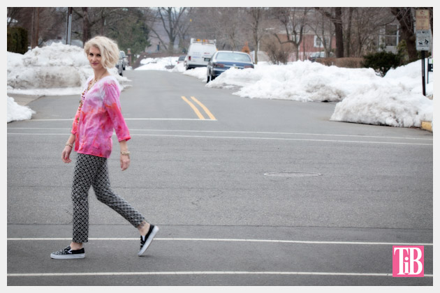 Ice Dyed Tunic Photo Crossing Street