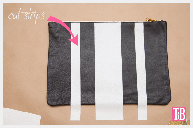 Leather Clutch DIY Cutting Heat Transfer Strips
