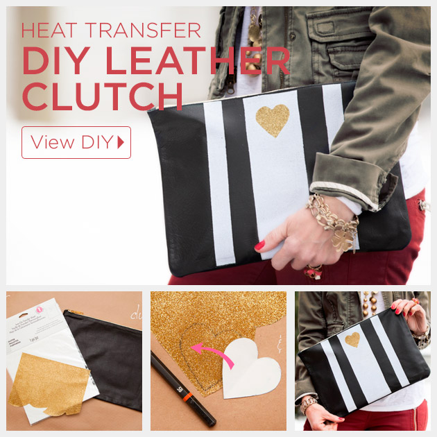Leather Clutch DIY Tutorial by Trinkets in Bloom
