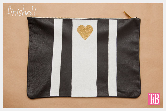 Leather Clutch DIY with Heat Transfer Design Finished