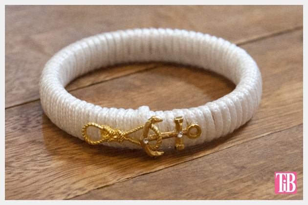 Nautical Bracelets DIY Anchor Bracelet Finished
