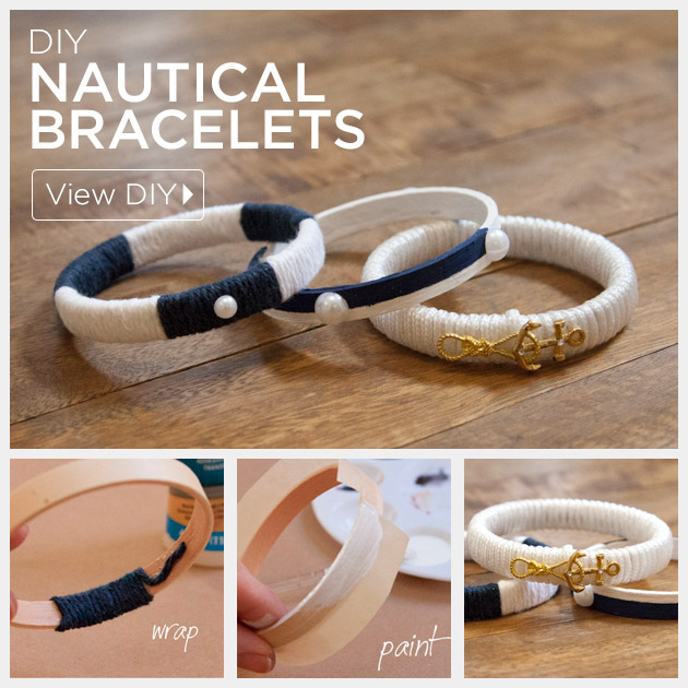 Nautical Bracelets DIY Tutorial By Trinkets In Bloom