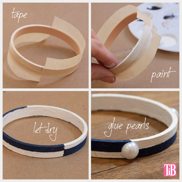 Nautical Bracelets DIY Painting