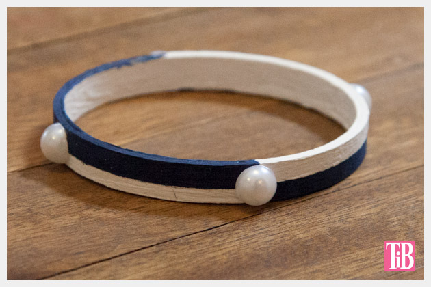 Nautical Bracelets DIY Painted Finished