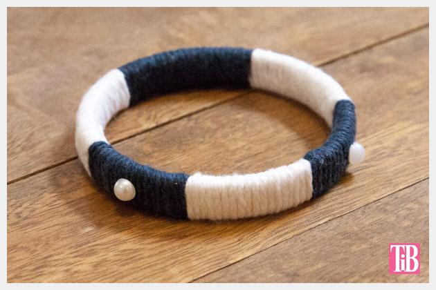 Nautical Bracelets DIY Yarn Wrapping Finished