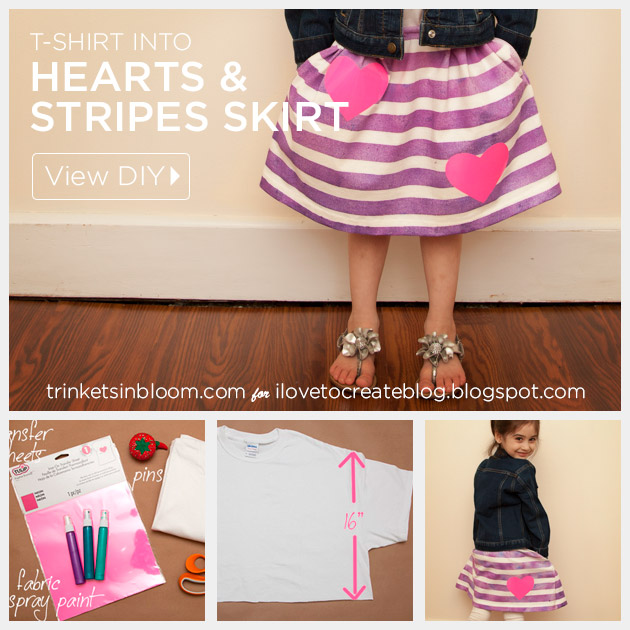 T-Shirt into a Girls Skirt DIY by Trinkets in Bloom