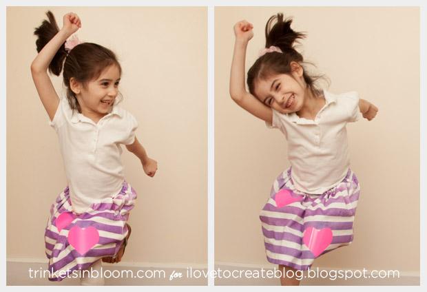 Make a cute girls Skirt DIY from a T-Shirt