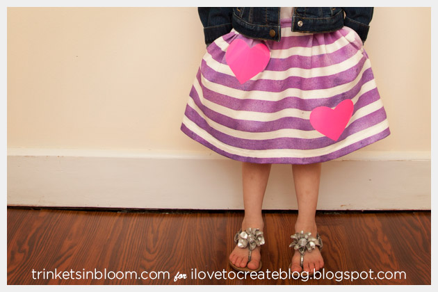 Girls Skirt DIY from a T-Shirt complete with Pockets