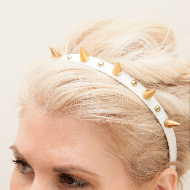 Spike Headband DIY Tutorial by Trinkets in Bloom
