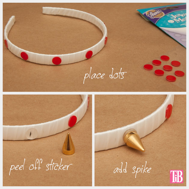 Spike Headband DIY Adding Spikes