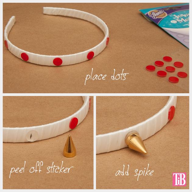 Spike Headband DIY Adding Spikes