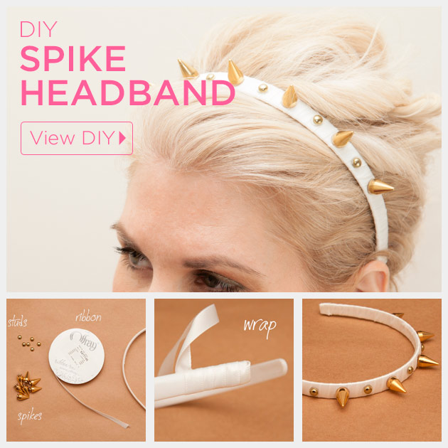 Spike Headband DIY by Trinkets in Bloom